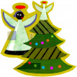 Angels and a Christmas Tree — Stock Photo #12417901