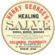 A vintage label for healing salve — Stock Photo