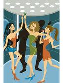 A group of women dancing — Stock Photo
