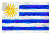 Drawing of the flag of Uruguay — Zdjęcie stockowe