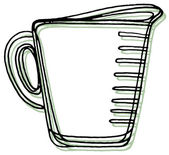A measuring cup — Stock Photo