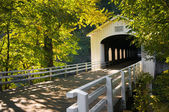 Goodpasture covered bridge in fall — Stock Photo