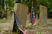 Confederate graves at Sunbury Cemetery — Stock Photo