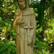 Stockfoto: Mother Mary watches over garden