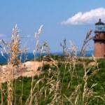 Gay Head Lighthouse in Aquinnah, Martha's Vineyard, MA — Stock Photo