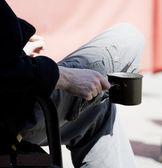 Man begging — Stock Photo
