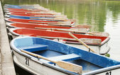 Boats in the pond — Stock Photo
