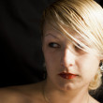 Mujer con mirada de incredulidad — Stock Photo