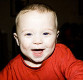 Baby boy laughing — Stock Photo