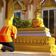 Boy pay respect to Buddhimage — Stock Photo #11990406
