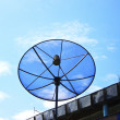 Satellite dish in blue sky — Stock Photo #12073145
