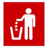 Closeup red garbage disposal — Stock Photo