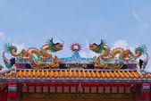 čínský styl střešní dekorace — Stock fotografie