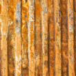 A rusty corrugated iron metal texture — Stock Photo