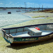 Small Boat at Low Tide — Stock Photo