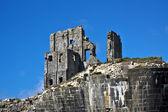 Corfe Castle Ruins — Stock Photo