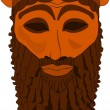Akkadian mask — Stock Vector