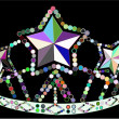 Colorful crown - Stock Vector