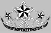 Beaded crown — Stock Vector