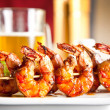 Shrimp grilled with beer — Foto Stock