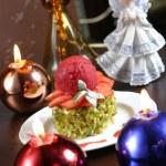 Fruit christmas cake — Stock Photo #11809396