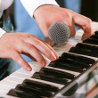 Piano player — Stock Photo