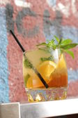 Tropical cocktail with orange — Stock Photo