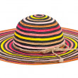 Striped sun hat — Stock Photo