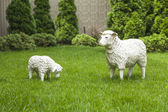 Decorative statue of sheep for garden — Stock Photo
