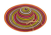 Striped sun hat — Stock Photo