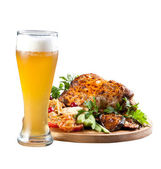 Grilled knuckle of pork with beer — Stock Photo