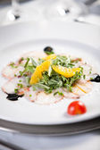 Fish carpaccio — Stock Photo