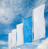 Empty vertical banners. Blank space for write at your own — Stock Photo