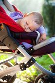 Photo of baby sleeping peacefully outdoors — Stock Photo