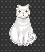 Cat, vector illustration, hand drawing — Stock Vector