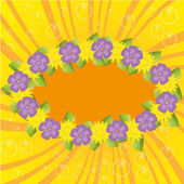Colorful happy flowers backdrop — Stock Vector