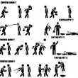 pictogram man mortal kombat fataliteit 3 di 3 — Stockvector