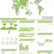 Stock Vector: INFOGRAPHIC DEMOGRAPHICS POPULATION 2 GREEN