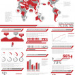 Stock Vector: INFOGRAPHIC DEMOGRAPHICS POPULATION 2 RED