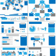 Stock Vector: INFOGRAPHIC DEMOGRAPHICS BLUE 11