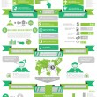 Stock Vector: INFOGRAPHIC DEMOGRAPHICS BUSINESS GREEN