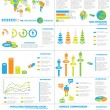 Stock Vector: INFOGRAPHIC DEMOGRAPHICS WEB ELEMENTS