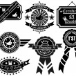 Royalty-Free Stock Vector Image: SET OF VINTAGE LABEL COLLECTION 2