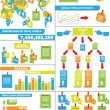 Stock Vector: INFOGRAPHIC DEMOGRAPHICS POST IT