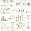 Stock Vector: INFOGRAPHIC DEMOGRAPHICS WEB ELEMENTS GREEN