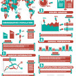Stock Vector: INFOGRAPHIC DEMOGRAPHICS WORLD PERCENTAGE