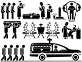 ICON MEN FUNERAL — Stock Vector