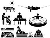 значок мужчин в расслабиться — Cтоковый вектор