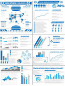 INFOGRAPHIC DEMOGRAPHICS POPULATION — Stock Vector