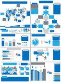 INFOGRAPHIC DEMOGRAPHICS BLUE 11 — Stock Vector